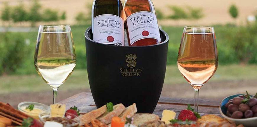 Stettyn Cellar sauvignon blanc and chardonnay pinot noir at Stettyn Family Vineyards